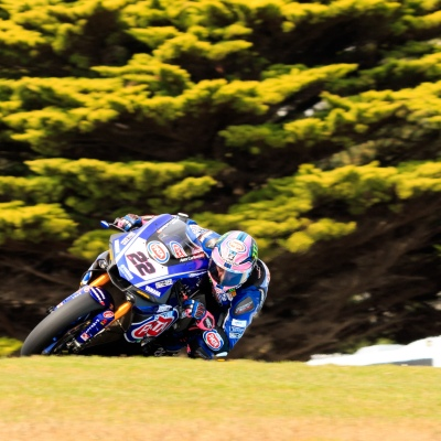 MELBOURNE, AUSTRALIA – FEBRUARY 23: Alex Lowes 22 riding for Pata Yamaha Official WorldSBK Team in Free practice 3 during the 2018 MOTUL FIM Superbike World Championship at Phillip Island, Australia on February 23 2018.