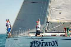 MELBOURNE, AUSTRALIA - 26 DECEMBER: Mrs Overnewton during the 2018 Cock of the Bay yacht race , Australia on December 26 2018.