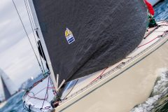 MELBOURNE, AUSTRALIA – May 5 : Yachts fight it out under light conditions during the 2019 Double Handed Yacht Race on Port Phillip Bay, Australia on May 05 2019.