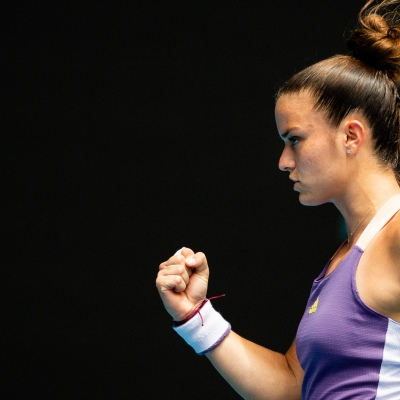 Melbourne, Australia. 25 January, 2020. Maria Sakkari (GRE) during day 7 of the The Australian Open. Credit: Dave Hewison/Alamy Live News