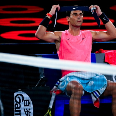 Melbourne, Australia. 29 January, 2020. Rafael Nadal (ESP) during day ten of The Australian Open. Credit: Dave Hewison/Alamy Live News