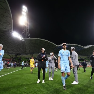 MELBOURNE, AUSTRALIA - JUNE 27: Nuno Reis of Melbourne City during the A-League Grand-Final soccer match between Melbourne City FC and Sydney FC on June 27, 2021 at AAMI Park in Melbourne, Australia. (Photo by Dave Hewison/Speed Media)