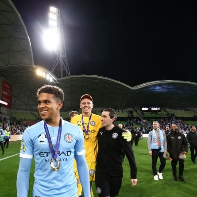 MELBOURNE, AUSTRALIA - JUNE 27: Raphael Borges Rodrigues of Melbourne City during the A-League Grand-Final soccer match between Melbourne City FC and Sydney FC on June 27, 2021 at AAMI Park in Melbourne, Australia. (Photo by Dave Hewison/Speed Media)