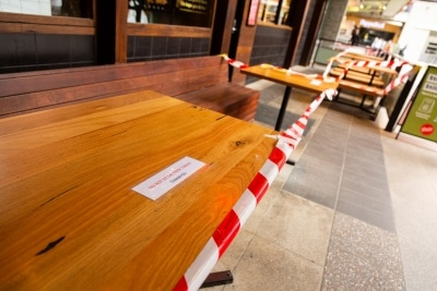Melbourne, Australia, 12 April, 2020. Outdoor dining is banned during the  COVID-19 Crisis in Melbourne, Phillip Island Circuit, Australia. Credit: Dave Hewison/Alamy Live News