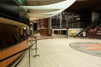 The Jam Factory Shopping Centre on Chapel Street is totally empty due to COVID 19 on 12 April, 2020 in Melbourne, Australia. (Photo by Speed Media/Icon Sportswire)