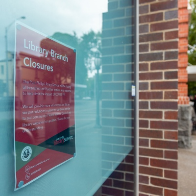 Melbourne, Australia, 25 March, 2020. Libraries across the country have been closed as COVID-19 Pandemic hits Melbourne, Australia. Credit: Dave Hewison/Alamy Live News