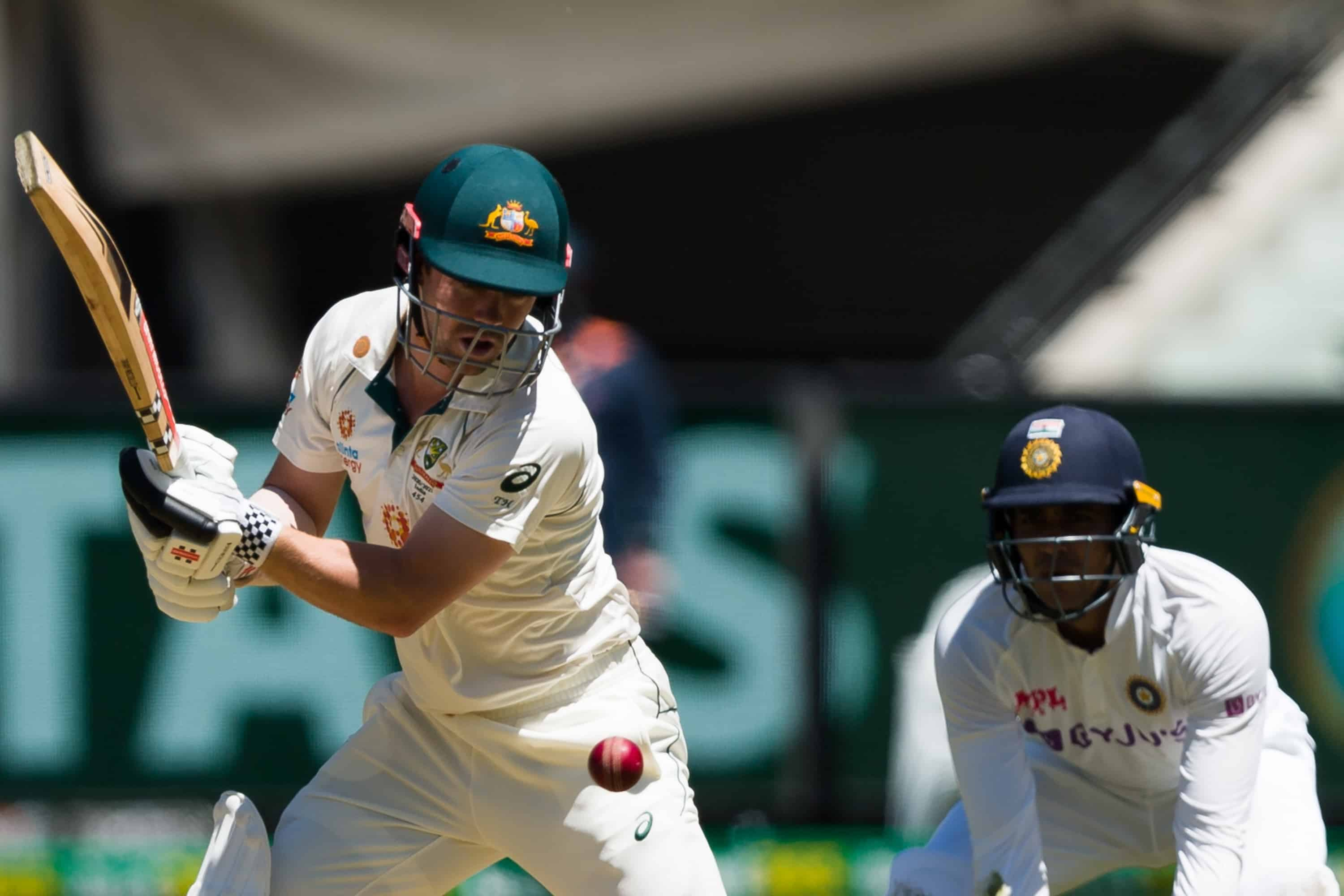 MELBOURNE, AUSTRALIA - DECEMBER 26: Travis Head of Australia bats during day one of the Second Vodafone Test cricket match between Australia and India at the Melbourne Cricket Ground on December 26, 2020 in Melbourne, Australia. (Photo by Dave Hewison/Speed Media/Icon Sportswire)