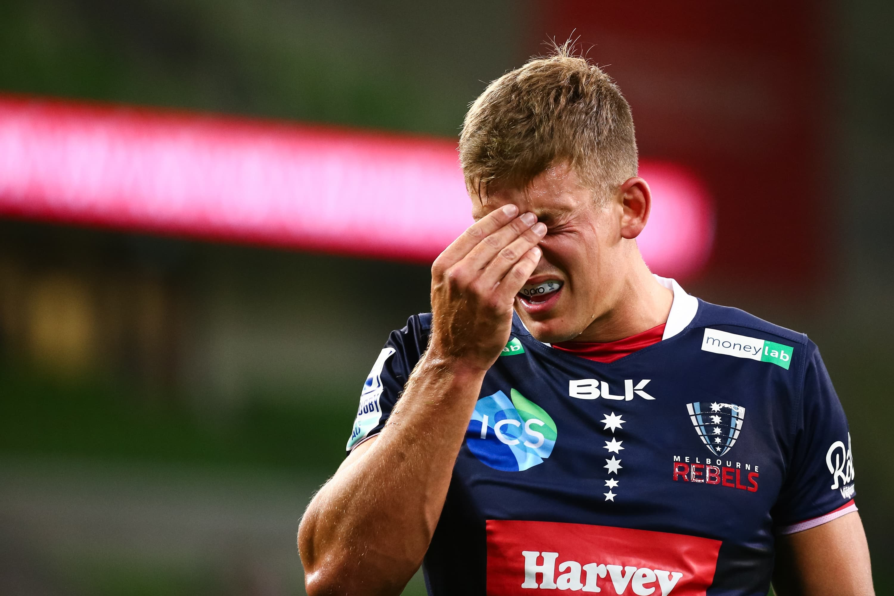 MELBOURNE, AUSTRALIA - APRIL 03: Tom Pincus of the Melbourne Rebels during the round seven Super Rugby AU match between the Melbourne Rebels and Queensland Reds at AAMI Park on April 03, 2021 in Melbourne, Australia. (Photo by Speed Media/Icon Sportswire)