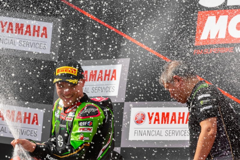 PHILLIP ISLAND, AUSTRALIA - MARCH 01: Celebrations on the podium during round 1 of the 2020 World Superbike Championship on March 01, 2020 at Phillip Island Circuit in Victoria, Australia.  (Photo by Speed Media/Icon Sportswire)