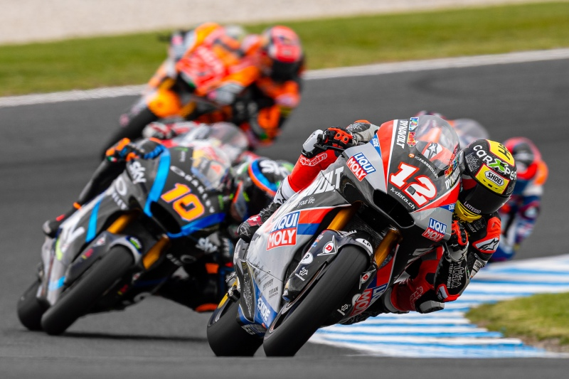 Phillip Island, Australia. 26 October, 2019. Tom Luthi (12) riding for Dynavolt Intact Gp (CHE) during Free Practice 4 at the Promac Generac Australian MotoGP. Credit: Dave Hewison/Alamy Live News