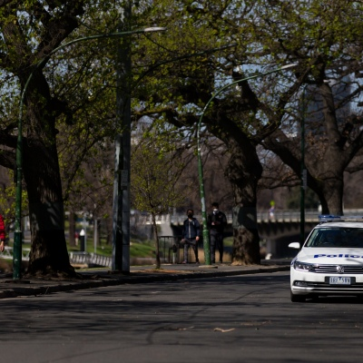 Police are seen patrolling Boathouse Drive during COVID-19 in Melbourne, Australia.  Premier Daniel Andrews Labor Government was given a six month extension to their State of Emergency Powers. Under these powers, the government need not justify their response to the pandemic or have to face any scrutiny. It risks the continuation of major events in Victoria and will plunge the state into the deepest recession not seen in 100 years. The government continues to push the meaningless daily case numbers as daily deaths continue to plunge as Aged Care is brought under control.