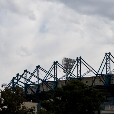A view of the MCG light towers as an announcement was made today by the AFL CEO, Gillon McLachlan that the 2020 Grand Final will be held in Brisbane due to Daniel Andrews draconian rules in Victoria during COVID-19 in Melbourne, Australia.  Premier Daniel Andrews Labor Government was given a six month extension to their State of Emergency Powers. Under these powers, the government need not justify their response to the pandemic or have to face any scrutiny. It risks the continuation of major events in Victoria and will plunge the state into the deepest recession not seen in 100 years. The government continues to push the meaningless daily case numbers as daily deaths continue to plunge as Aged Care is brought under control.