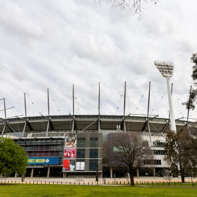 A view of the MCG as an announcement was made today by the AFL CEO, Gillon McLachlan that the 2020 Grand Final will be held in Brisbane due to Daniel Andrews draconian rules in Victoria during COVID-19 in Melbourne, Australia.  Premier Daniel Andrews Labor Government was given a six month extension to their State of Emergency Powers. Under these powers, the government need not justify their response to the pandemic or have to face any scrutiny. It risks the continuation of major events in Victoria and will plunge the state into the deepest recession not seen in 100 years. The government continues to push the meaningless daily case numbers as daily deaths continue to plunge as Aged Care is brought under control.