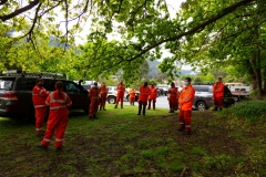 MELBOURNE, VIC - SEPTEMBER 23: SES volunteers are seen in the stanging area. Police and SES continue to search for missing 14 year old autistic boy, William Wall after he went missing two days ago in dense bushland on September 23, 2020 in Melbourne, Australia. A massive search in the Yarra Ranges is underway for missing autistic teen who spent the night lost in the bush. Multiple Crews, including police, the Airwing and SES searched for William as temperatures dropped to 7C overnight. Rain is predicted Wednesday and will impact the search efforts. (Photo by Speed Media/Icon Sportswire)