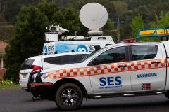 MELBOURNE, VIC - SEPTEMBER 23: Media Crews start arriving at the scene as SES converge into Warburton to join the search for William as Police and SES continue to search for missing 14 year old autistic boy, William Wall after he went missing two days ago in dense bushland on September 23, 2020 in Melbourne, Australia. A massive search in the Yarra Ranges is underway for missing autistic teen who spent the night lost in the bush. Multiple Crews, including police, the Airwing and SES searched for William as temperatures dropped to 7C overnight. Rain is predicted Wednesday and will impact the search efforts. (Photo by Speed Media/Icon Sportswire)