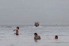 Locals are seen cooling down at the beach during Melbourne's first heatwave in months.  As temperatures soured in Melbourne, locals flock to the beach in their thousands to escape the heat. Victoria saw its 29th day of no cases today but despite this the government show no signs of further lifting of restrictions.