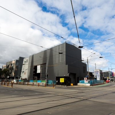 The intersection of Flinders and Swanston Streets are deserted during COVID-19 in Melbourne, Australia. Stage 4 restrictions continue in Melbourne as work permits come into effect at midnight today. This comes as a further 471 new COVID-19 cases were uncovered overnight.