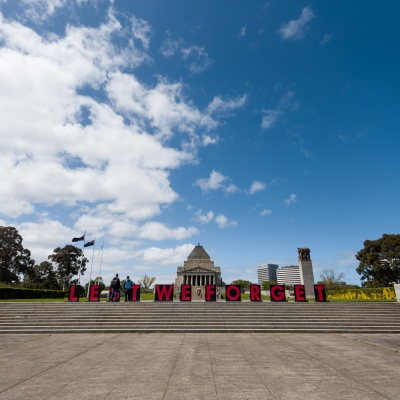Lest We Forget. A view of the Shrine where a freedom protest was planned but failed to materialize during the COVID-19 in Melbourne. With over a week of zero cases in Victoria, Premier Daniel Andrews is expected to make major announcements on Sunday about further easing of restrictions.