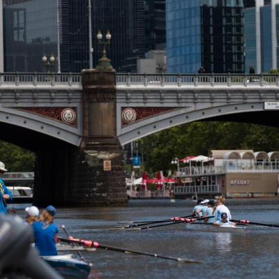 """Schoolgirls are seen rowing during an 'Introduction to Rowing"""" day held at the boatsheds during the COVID-19 in Melbourne. With over a week of zero cases in Victoria, Premier Daniel Andrews is expected to make major announcements on Sunday about further easing of restrictions."""