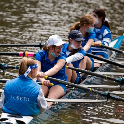 A rowing team is seen in a coxed four on The Yarra during the COVID-19 in Melbourne. With over a week of zero cases in Victoria, Premier Daniel Andrews is expected to make major announcements on Sunday about further easing of restrictions.