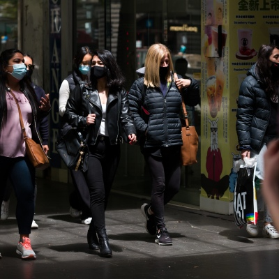 A group of women are seen shopping in the CBD during the COVID-19 in Melbourne. With over a week of zero cases in Victoria, Premier Daniel Andrews is expected to make major announcements on Sunday about further easing of restrictions.