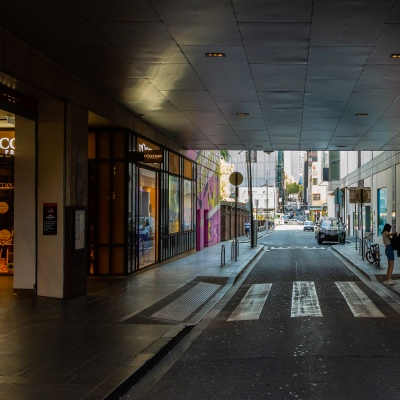 Melbourne's CBD streets remain empty due to COVID 19 on 09 April, 2020 in Melbourne, Australia. (Photo by Speed Media/Icon Sportswire)