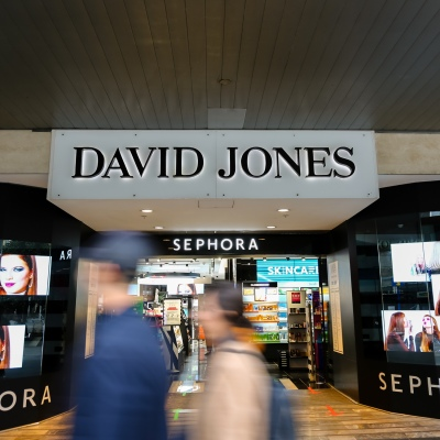 MELBOURNE, AUSTRALIA - June 21: A view of the main entrance of David Jones Department Store in Bourke Street as restrictions are being tightened in Victoria during COVID 19 on 21 June, 2020 in Melbourne, Australia. One of Australia's largest insurers will no longer provide cover for suppliers of struggling retailers Myer and David Jones after deeming the traditional department store sector too risky to insure. In a letter from QBE Insurance to Suppliers, the $13.5 billion insurer said it would no longer provide trade credit insurance for Myer or David Jones due to concerns the two retailers may not survive the COVID-19 crisis. (Photo by Speed Media/Icon Sportswire)
