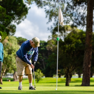 MELBOURNE, AUSTRALIA - MAY 13: Golfers return to the Albert Park Golf Course as restrictions are being eased in Victoria during COVID 19 on 13 May, 2020 in Melbourne, Australia. (Photo by Speed Media/Icon Sportswire)