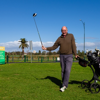 MELBOURNE, AUSTRALIA - MAY 13: Ex committee member Warren arrives at the Albert Park Golf Course to play his first game of golf in two months as restrictions are being eased in Victoria during COVID 19 on 13 May, 2020 in Melbourne, Australia. (Photo by Speed Media/Icon Sportswire)