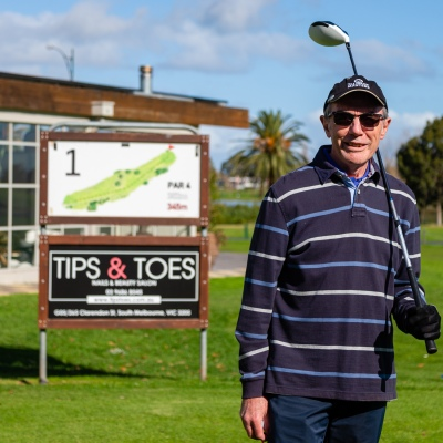 MELBOURNE, AUSTRALIA - MAY 13: Albert Park Golf Course member, Gavin arrives to play a round of golf for the first time in two months as restrictions are being eased in Victoria during COVID 19 on 13 May, 2020 in Melbourne, Australia. (Photo by Speed Media/Icon Sportswire)
