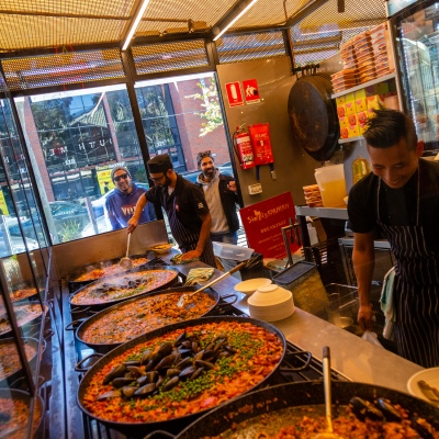 MELBOURNE, AUSTRALIA - MAY 17: Chefs at the South Melbourne Market's Simply Spanish were hard at work as restrictions are being eased in Victoria during COVID 19 on 17 May, 2020 in Melbourne, Australia. (Photo by Speed Media/Icon Sportswire)