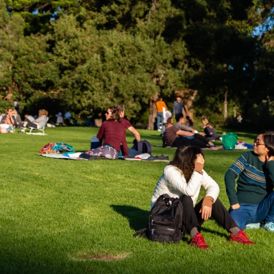 MELBOURNE, AUSTRALIA - MAY 17: Two women sit with each other to enjoy the sun in the Botanical Gardens as restrictions are being eased in Victoria during COVID 19 on 17 May, 2020 in Melbourne, Australia. (Photo by Speed Media/Icon Sportswire)