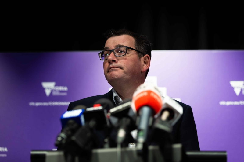 Premier Daniel Andrews updates the media during the daily COVID-19 press conference. A further 300 Coronavirus cases have been discovered overnight, and a further 6 deaths bringing Victoria's active cases to over 3600.