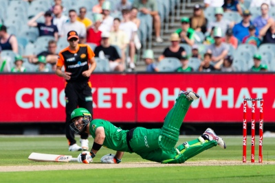 MELBOURNE, AUSTRALIA - JANUARY 18: Glenn Maxwell of Melbourne Stars bats during the Big Bash League cricket match between Melbourne Stars and Perth Scorchers at The Melbourne Cricket Ground on January 18, 2020 in Melbourne, Australia. (Photo by Speed Media/Icon Sportswire)