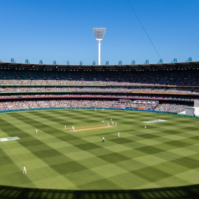 MELBOURNE, AUSTRALIA - DECEMBER 26: 80,000 fans pack into the MCG during day one of the Second Test match in the series between Australia and New Zealand at The Melbourne Cricket Ground on December 26, 2019 in Melbourne, Australia. (Photo by Speed Media/Icon Sportswire)