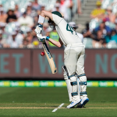 MELBOURNE, AUSTRALIA - DECEMBER 26: Steven Smith of Australia bats during day one of the Second Test match in the series between Australia and New Zealand at The Melbourne Cricket Ground on December 26, 2019 in Melbourne, Australia. (Photo by Speed Media/Icon Sportswire)