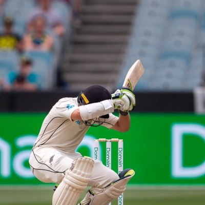 MELBOURNE, AUSTRALIA - DECEMBER 28: Tom Latham of New Zealand bats during day three of the Second Test match in the series between Australia and New Zealand at The Melbourne Cricket Ground on December 28, 2019 in Melbourne, Australia. (Photo by Speed Media/Icon Sportswire)