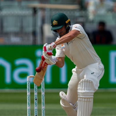 MELBOURNE, AUSTRALIA - DECEMBER 28: Joe Burns of Australia bats during day three of the Second Test match in the series between Australia and New Zealand at The Melbourne Cricket Ground on December 28, 2019 in Melbourne, Australia. (Photo by Speed Media/Icon Sportswire)