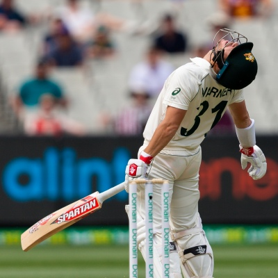 MELBOURNE, AUSTRALIA - DECEMBER 28: David Warner of Australia caught out during day three of the Second Test match in the series between Australia and New Zealand at The Melbourne Cricket Ground on December 28, 2019 in Melbourne, Australia. (Photo by Speed Media/Icon Sportswire)