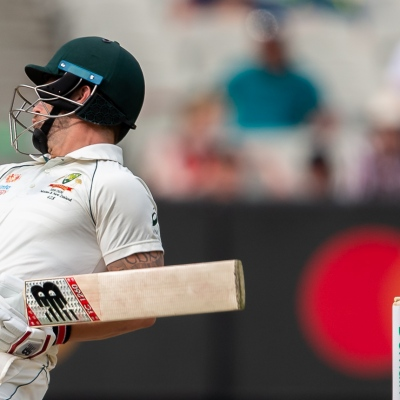 MELBOURNE, AUSTRALIA - DECEMBER 28: Matthew Wade of Australia ducks to miss a ball  during day three of the Second Test match in the series between Australia and New Zealand at The Melbourne Cricket Ground on December 28, 2019 in Melbourne, Australia. (Photo by Speed Media/Icon Sportswire)