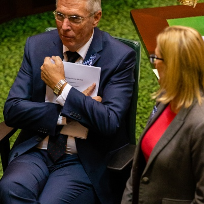 MELBOURNE, AUSTRALIA - APRIL 23: Deputy Leader of the Opposition, Peter Walsh during Question time in an emergency sitting to pass COVID-19 related legislation on 23 April, 2020 in Melbourne, Australia. (Photo by Speed Media/Icon Sportswire)