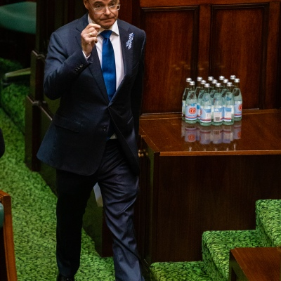 MELBOURNE, AUSTRALIA - APRIL 23: The Deputy Opposition Leader, Peter Walsh arrives for Question time in an emergency sitting to pass COVID-19 related legislation on 23 April, 2020 in Melbourne, Australia. (Photo by Speed Media/Icon Sportswire)