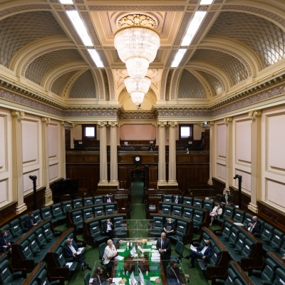 MELBOURNE, AUSTRALIA - NOVEMBER 10: A view of the Legislative Assembly during Question Time on 10 November, 2020 in Melbourne, Australia. COVID-19 restrictions have eased further across Victoria, with the metro-regional border and 25km travel limit from home no longer in force. (Photo by Speed Media/Icon Sportswire)